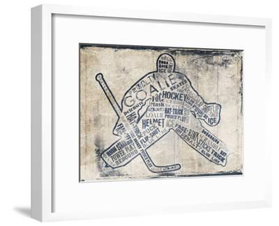 Hockey Type-Jace Grey-Framed Art Print