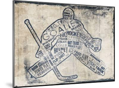 Hockey Type-Jace Grey-Mounted Art Print