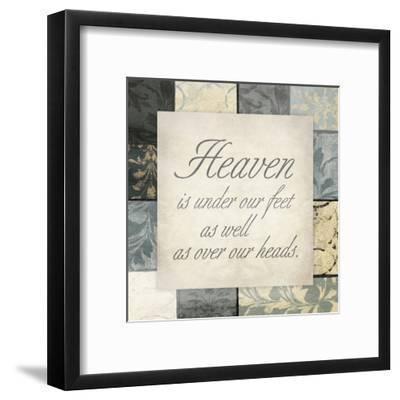 Heaven Under Feet-Jace Grey-Framed Art Print