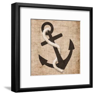 Rope Anchor-Jace Grey-Framed Art Print