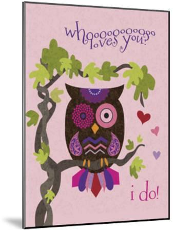 Valentine Owl 1-Melody Hogan-Mounted Art Print