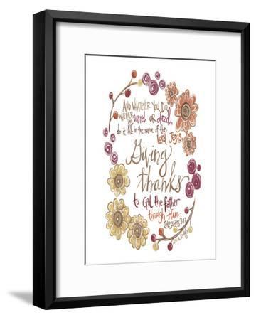 Colossians 3-17-Erin Butson-Framed Art Print