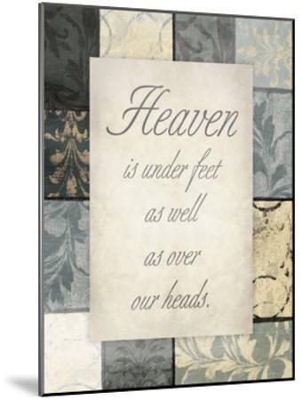 Heaven Under Our Feet-Jace Grey-Mounted Art Print