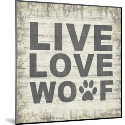 Live Love Wolf 2-Lauren Gibbons-Mounted Art Print