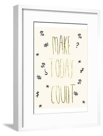Make Today Count-Sheldon Lewis-Framed Art Print