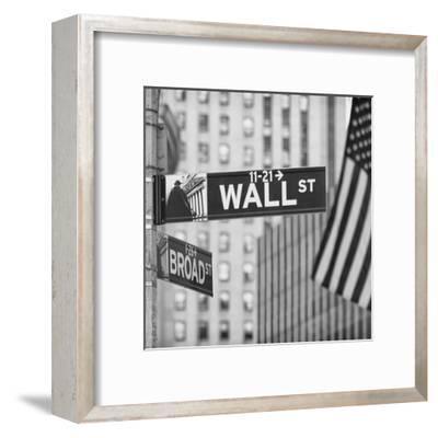 Wall ST--Framed Art Print