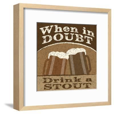 Drink Doubts-Melody Hogan-Framed Art Print