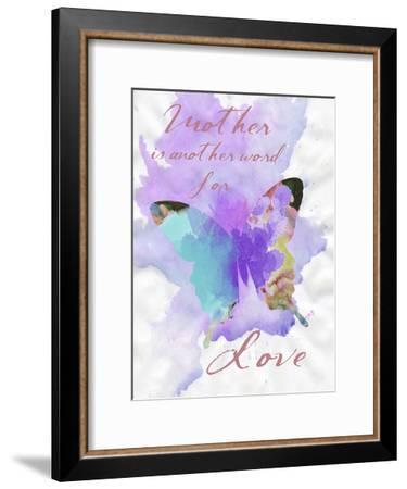 Mother Watercolor-Sheldon Lewis-Framed Art Print