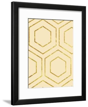 Cream Geo-Sheldon Lewis-Framed Art Print