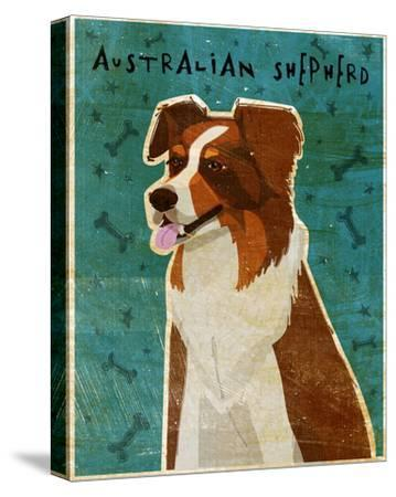 Australian Shepherd (Red)-John W^ Golden-Stretched Canvas Print
