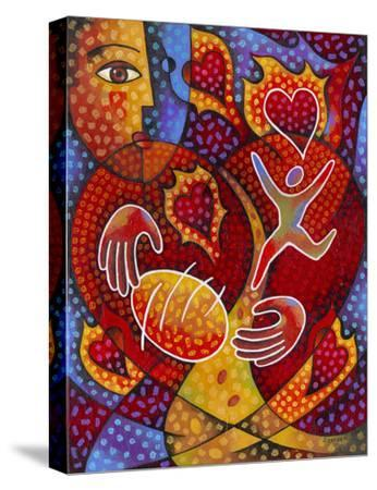 Hearts on Fire-Jim Dryden-Stretched Canvas Print