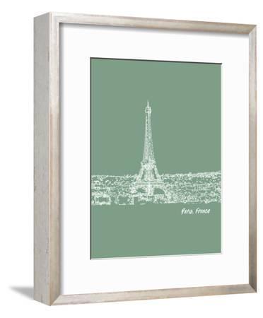 Skyline Paris 6-Brooke Witt-Framed Art Print