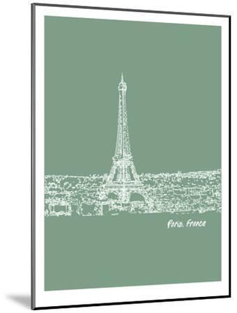 Skyline Paris 6-Brooke Witt-Mounted Art Print