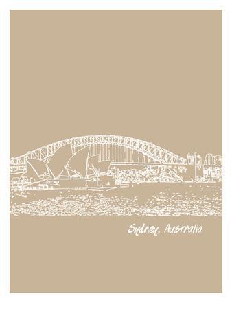 Skyline Sydney 7-Brooke Witt-Framed Art Print