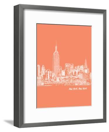Skyline New York City 8-Brooke Witt-Framed Art Print