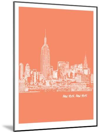 Skyline New York City 8-Brooke Witt-Mounted Art Print
