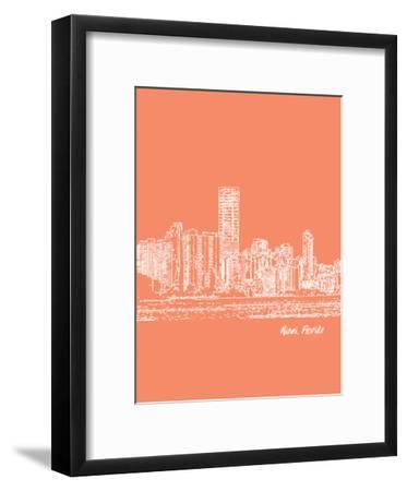 Skyline Miami 8-Brooke Witt-Framed Art Print