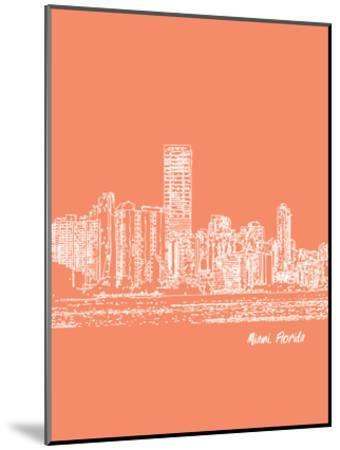 Skyline Miami 8-Brooke Witt-Mounted Art Print