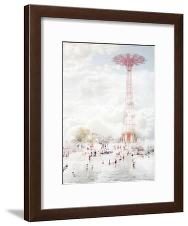 Brooklyn Eiffel Tower-Mina Teslaru-Framed Art Print