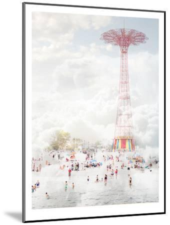 Brooklyn Eiffel Tower-Mina Teslaru-Mounted Art Print