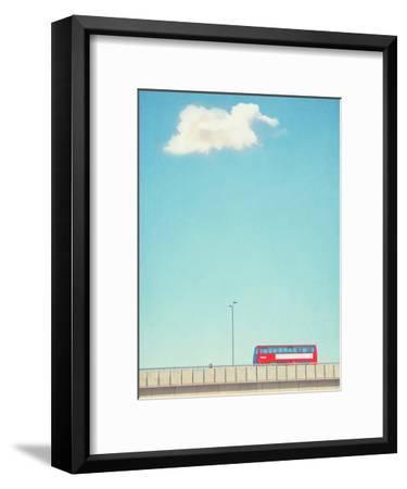 Lonely Skies London-Mina Teslaru-Framed Art Print