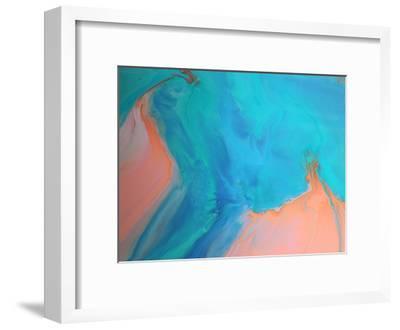 Gold & Aqua Marble-Deb McNaughton-Framed Art Print