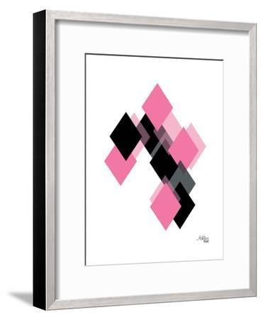 Geometric Diamond-Ashlee Rae-Framed Art Print