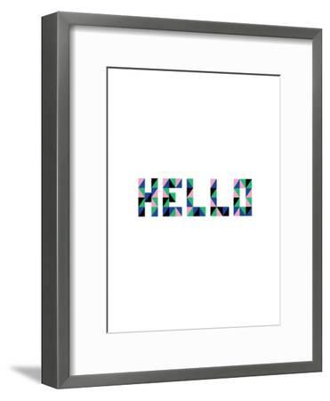 Hello Geo-Ashlee Rae-Framed Art Print