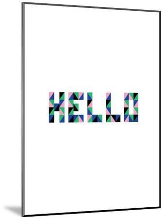 Hello Geo-Ashlee Rae-Mounted Art Print