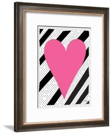 Pink Heart-Ashlee Rae-Framed Art Print