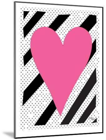 Pink Heart-Ashlee Rae-Mounted Art Print
