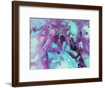 Purple Bubbles-Deb McNaughton-Framed Art Print