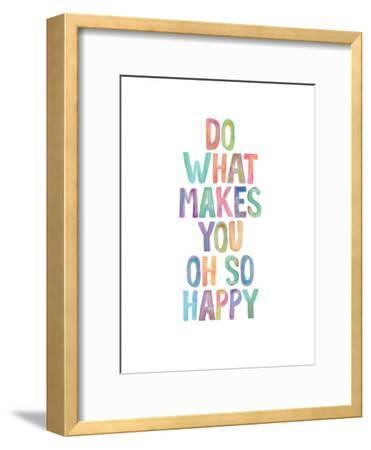 Do What Makes You Oh So Happy-Brett Wilson-Framed Art Print