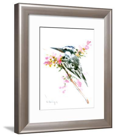Pied Kingfisher-Suren Nersisyan-Framed Art Print