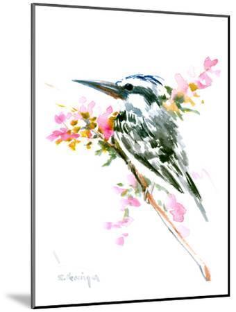 Pied Kingfisher-Suren Nersisyan-Mounted Art Print