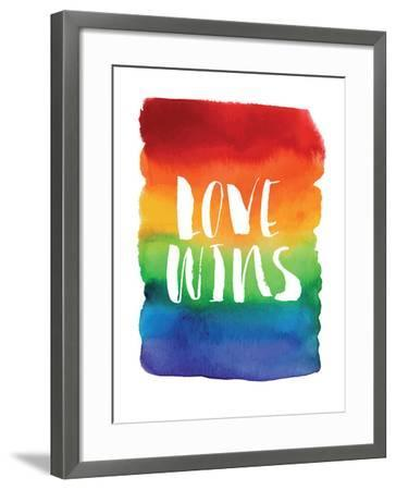 Love Wins Watercolor Rainbow-Brett Wilson-Framed Art Print