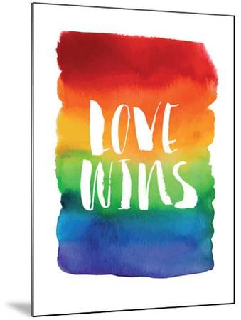 Love Wins Watercolor Rainbow-Brett Wilson-Mounted Art Print