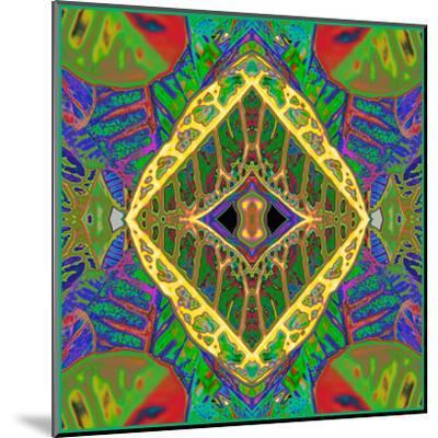 Croton Shield 2a-Rose Anne Colavito-Mounted Art Print