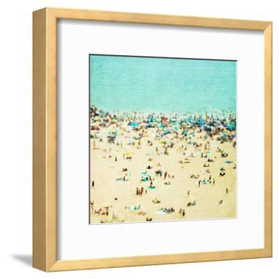 Coney Island Beach1-Mina Teslaru-Framed Art Print