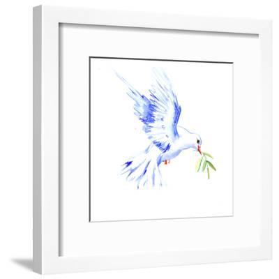 Flyine White Dove-Suren Nersisyan-Framed Art Print