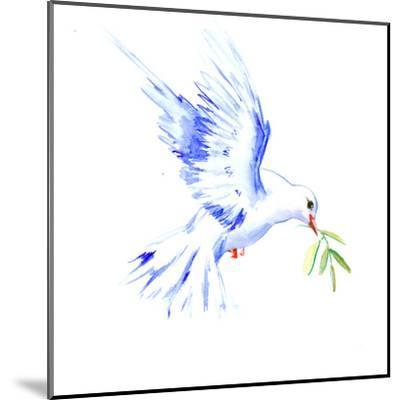Flyine White Dove-Suren Nersisyan-Mounted Art Print
