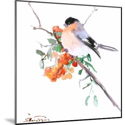 Bullfinch-Suren Nersisyan-Mounted Art Print