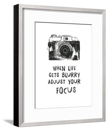 When Life Gets Blurry-Peach & Gold-Framed Art Print