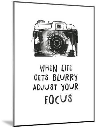 When Life Gets Blurry-Peach & Gold-Mounted Art Print