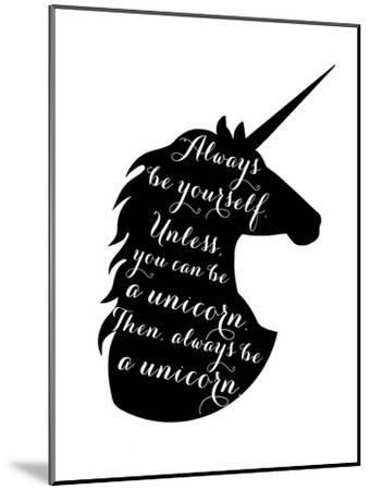 Always Be a Unicorn-Peach & Gold-Mounted Art Print