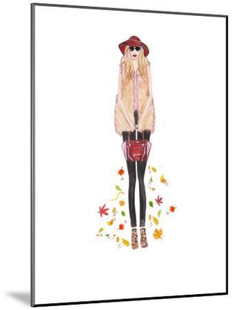 Boho Fall- Alison B Illustrations-Mounted Art Print