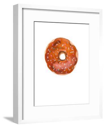 Choc Doughnut- Alison B Illustrations-Framed Art Print