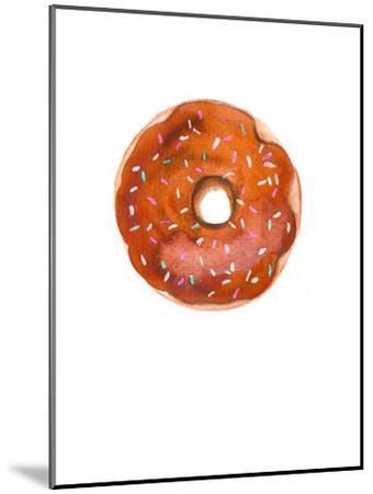 Choc Doughnut- Alison B Illustrations-Mounted Art Print