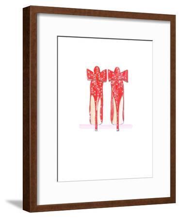 Red Shoe- Alison B Illustrations-Framed Art Print