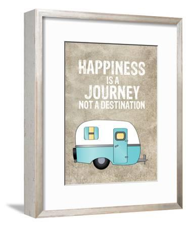 Camper Happiness Is Journey-Amy Brinkman-Framed Art Print